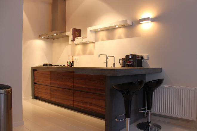 Witte keuken met betonnen werkblad ~ consenza for .