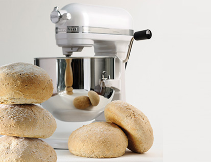 Kitchenaid Artisan mixer 6.9L parelmoer