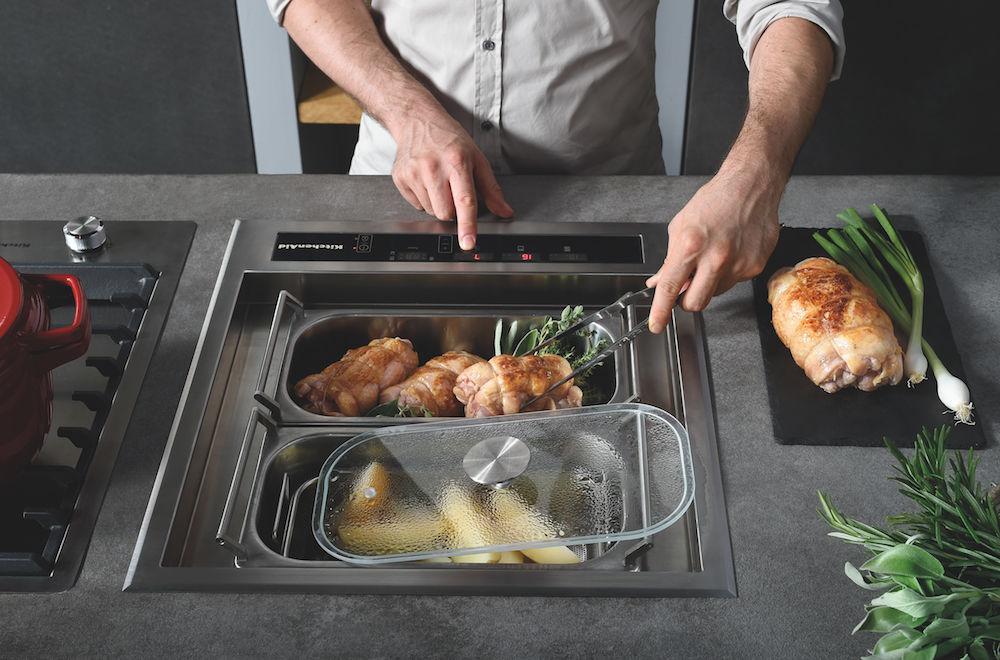 De nieuwe kookmodule voor de keuken van KitchenAid - Chef Sign om te koken, roosteren, bakken, frituren en stomen