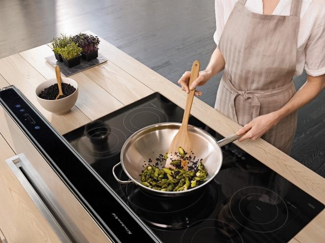 Inductie kookplaat met wok van Kitchenaid #kitchenaid #inductie #inductiekookplaat #keuken