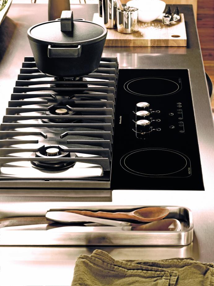 Kookplaat met keuze uit inductie of gas - KitchenAid