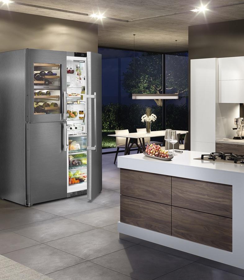 Stel zelf je ideale side by side koelkast van Liebherr samen. Liebherr SBSes8486 #liebherr
