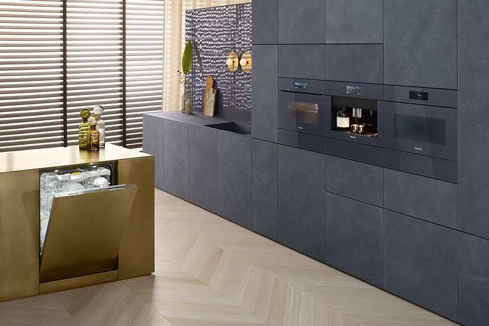 Keukentrends Miele. Greeploze keukenapparaten, vaatwasser, ovens met Touch2Open en SoftOpen van ArtLine #keuken #miele #keukentrends #keukenapparaten