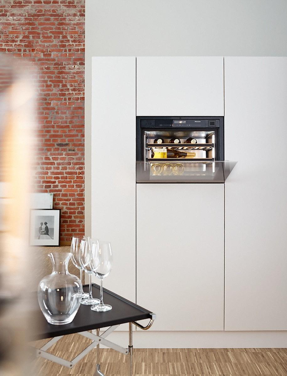 Compacte wijnklimaatkast van Miele #miele #wijn #inbouwapparaten