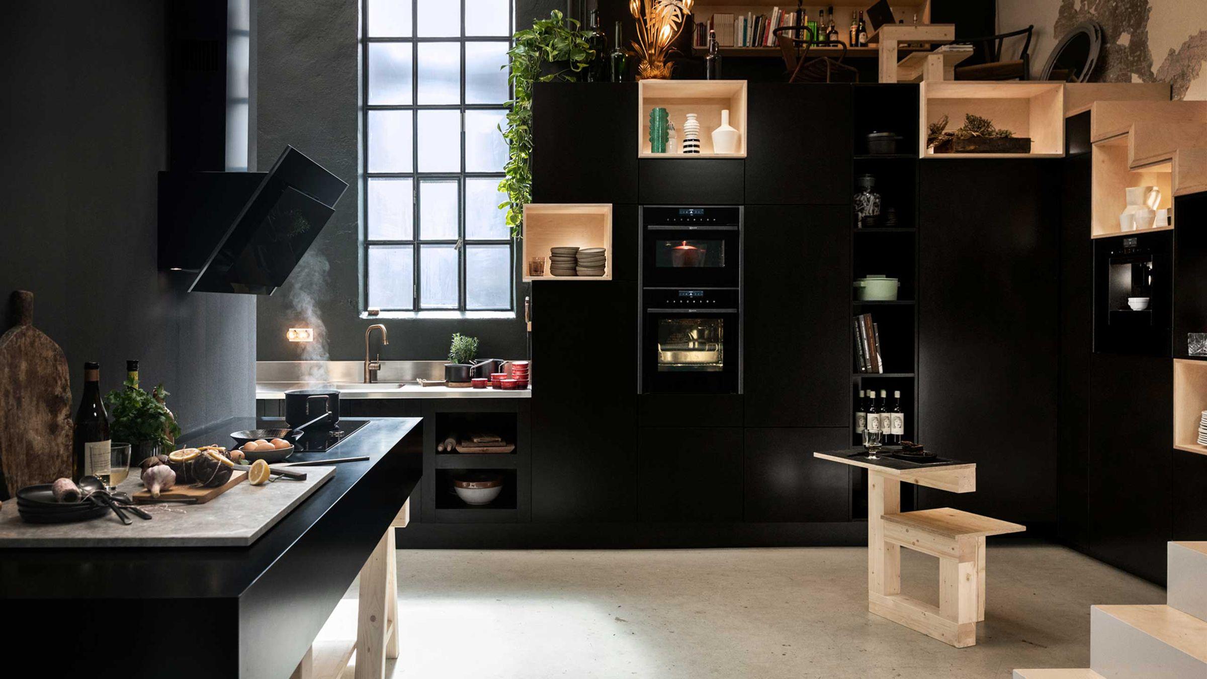 Neff Graphite Grey keukenapparaten #keuken #keukenapparaten #neff #graphitegrey #ovens #koffievolautomaat #afzuigkap #kookplaat