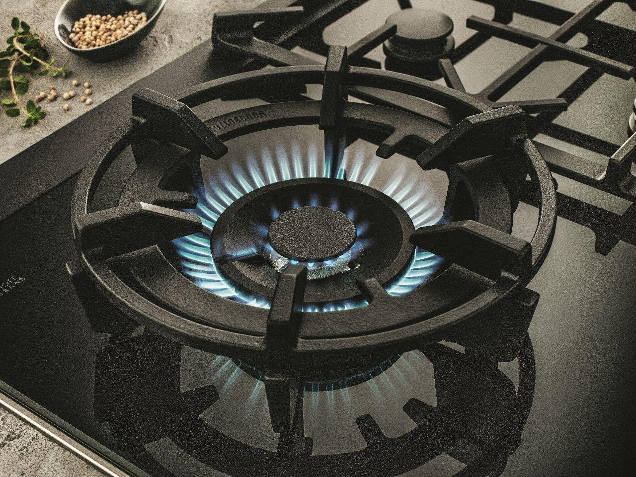 Nieuwe gaskookplaat met wokbrander van Neff