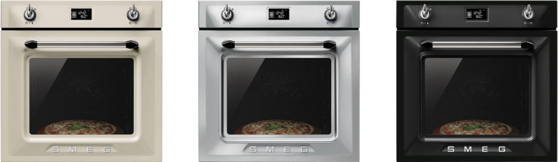 De Victoria Tradizionale oven in jaren vijftig stijl van Smeg heeft 15 functies, waaronder een speciale pizzafunctie, en 20 automatische programma's. De oven heeft een groot LCD display met timer en automatische in- en uitschakeling. Met warmhoudoptie, een sterke grill en een handige Vapor Clean functie die de oven met stoom reinigt.