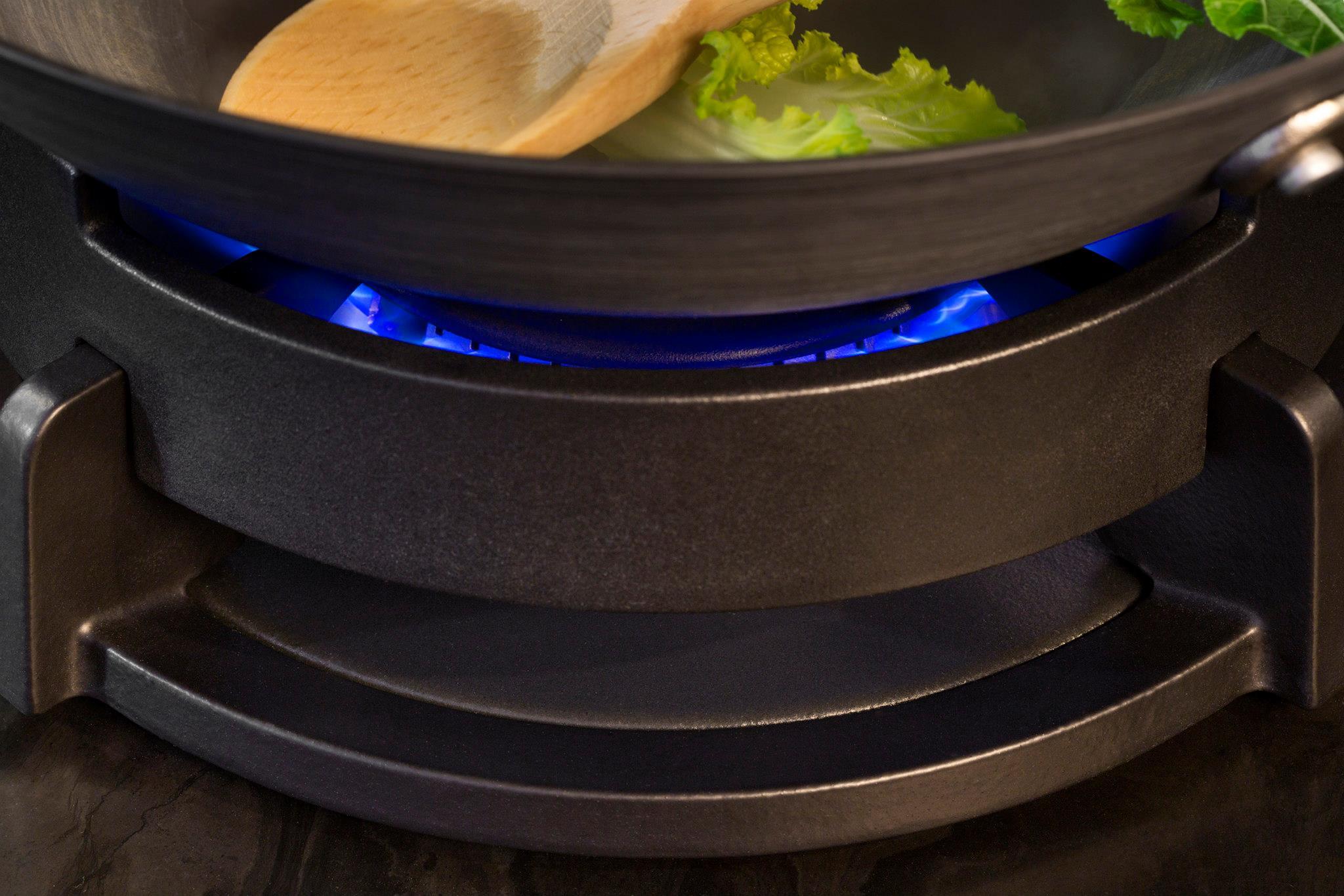 PITT Professional wokbrander messing met wokring