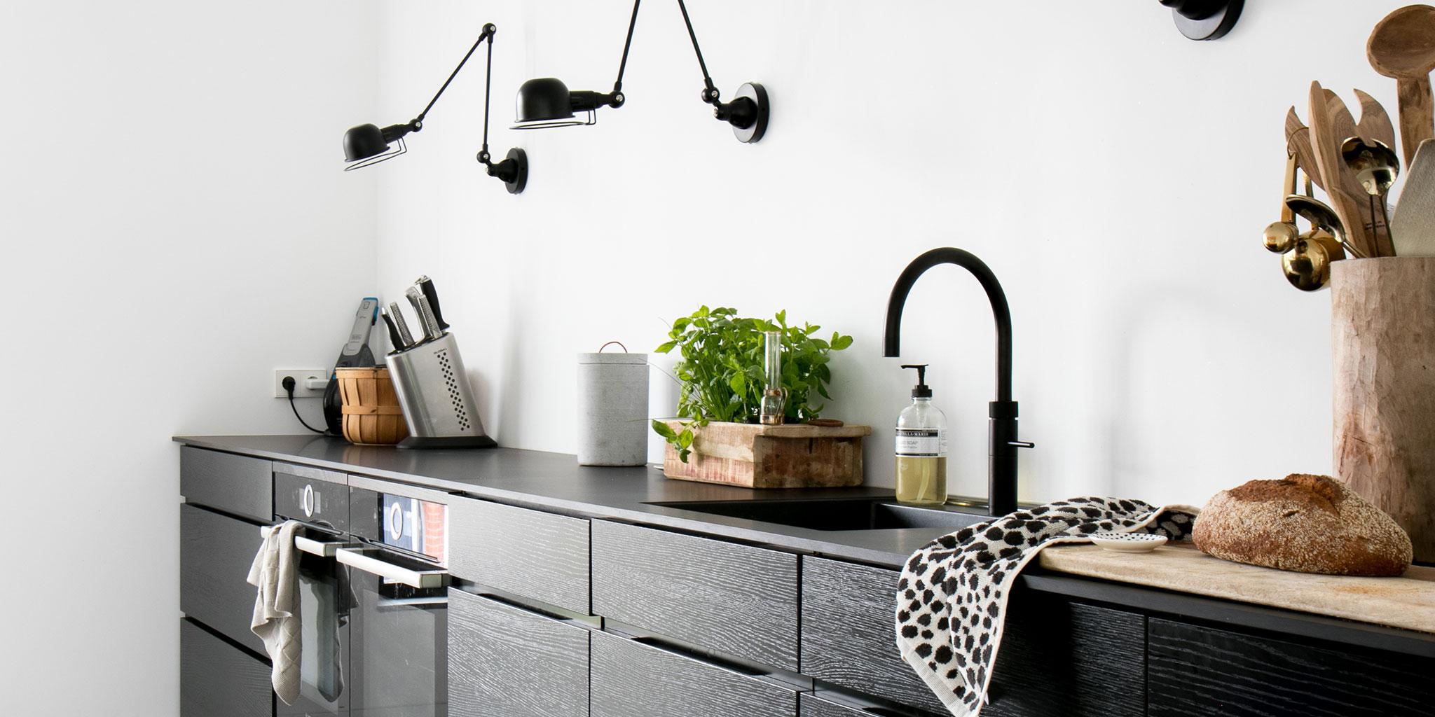 Quooker zwart keuken #kokendwaterkraan