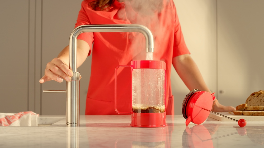 Quooker Fusion kokend water kraan met waterzuivering voor extra lekkere koffie