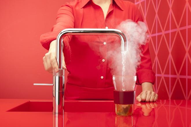 Quooker kraan met warm, koud en kokend water