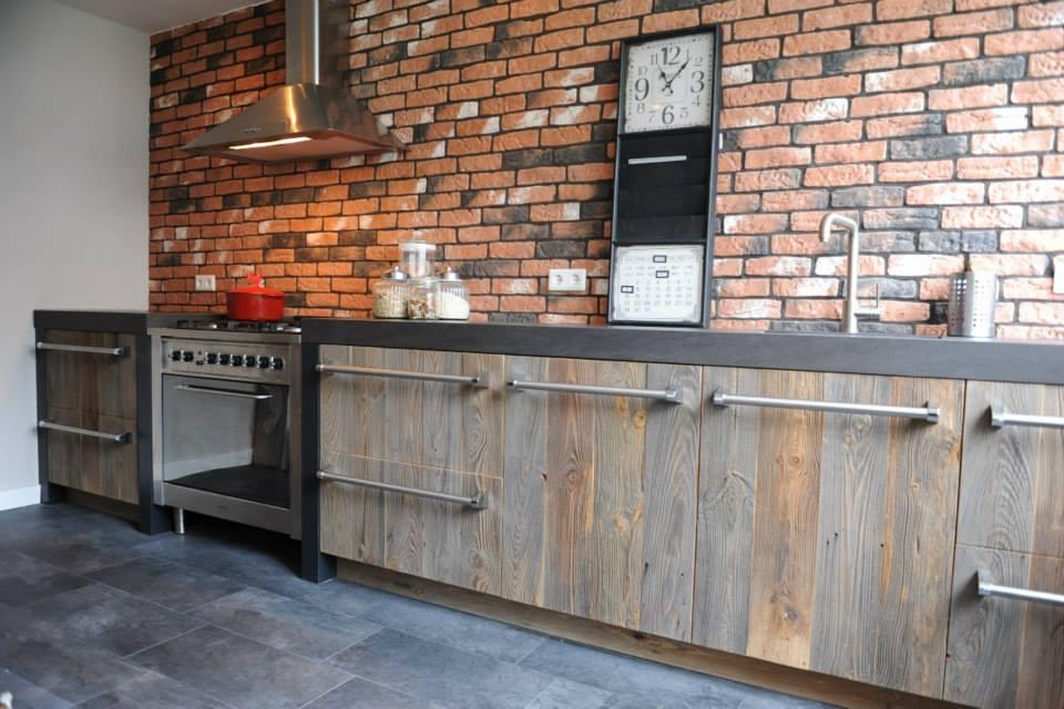 Oud houten keuken van Barnwood via RestyleXL