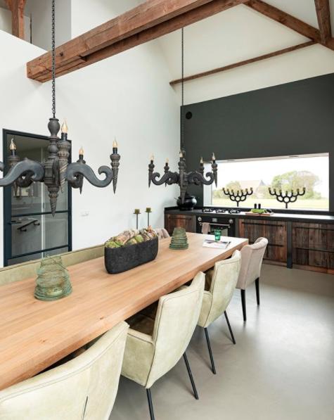 RestyleXL houten keuken van Barnwood #restylexl #barnwood #keuken #eettafel