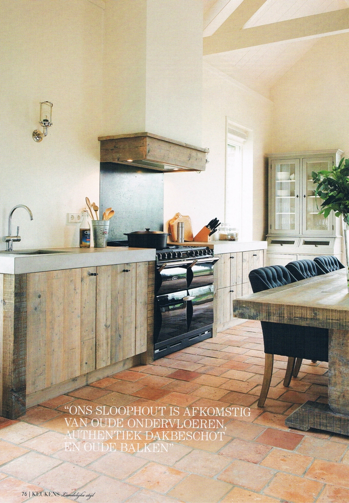 Keukentafel Landelijke Stijl : RestyleXL: Keukens van sloophout – Nieuws Startpagina voor keuken