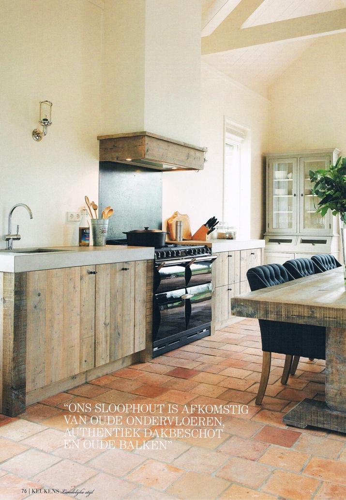 houten keuken landelijke stijl sloophout