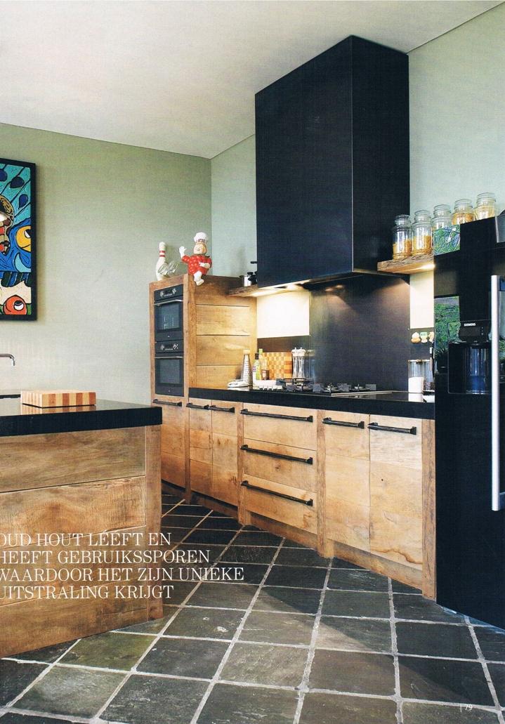 Keukens sloophout landelijke stijl