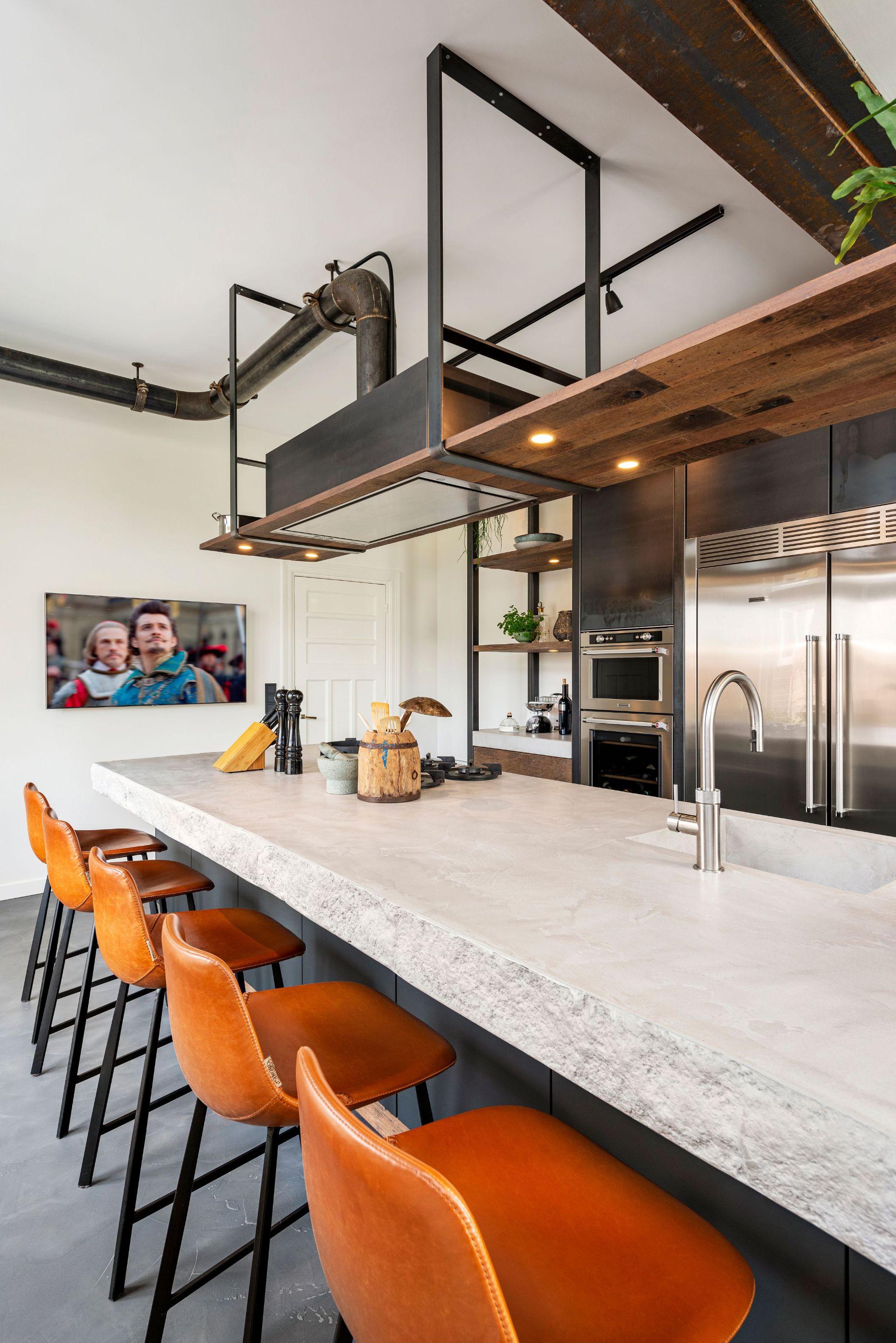 Kookeiland industriele keuken. Restyle XL #keuken #kookeiland #restylexl