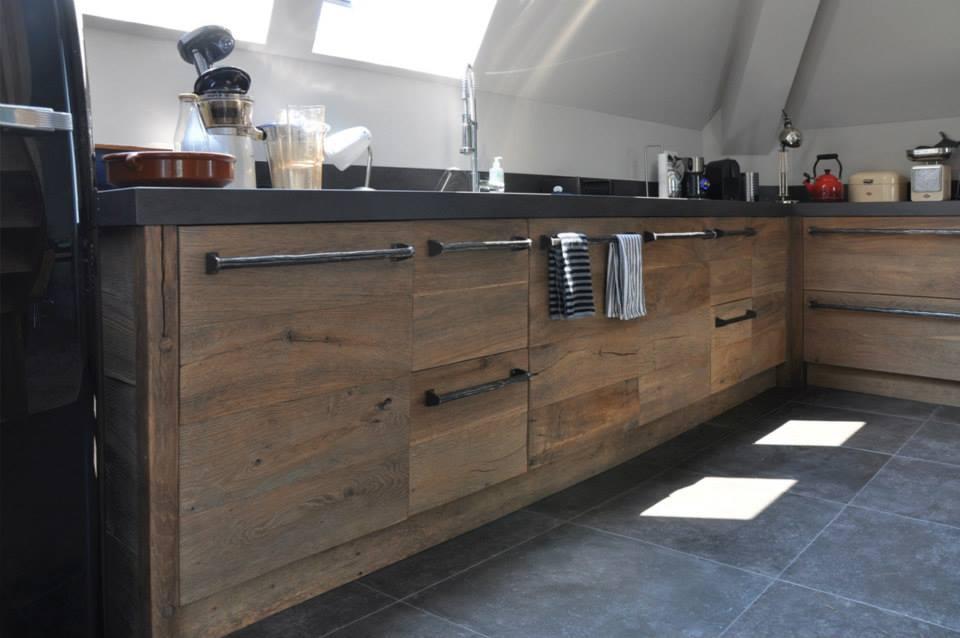 Zwarte Keuken Houten Vloer : Houten keukens Startpagina voor keuken idee?n UW-keuken.nl