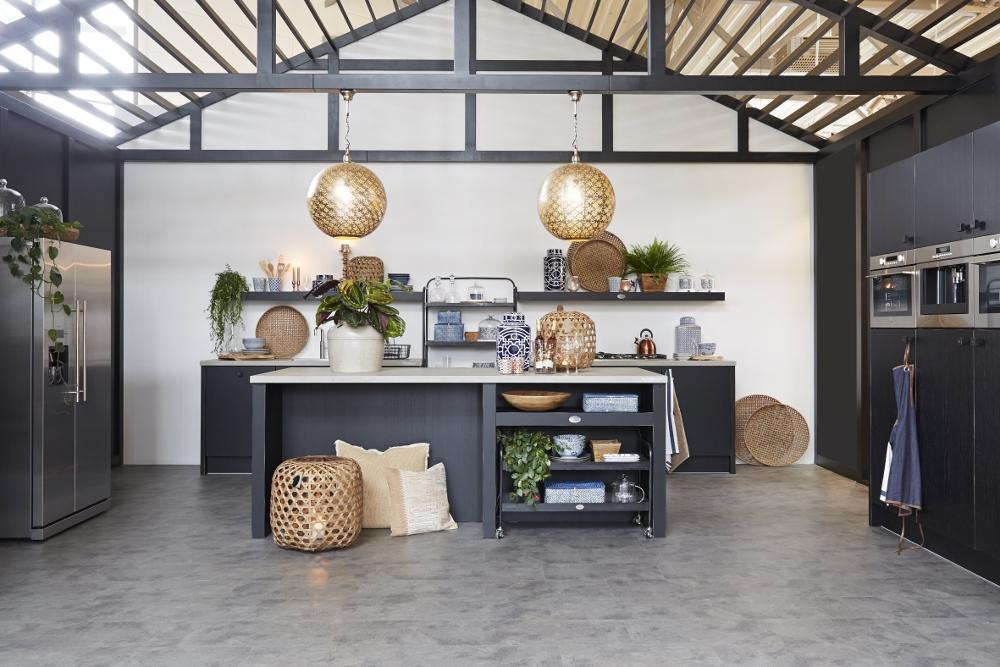 Vloer zwart keuken houten - Zwarte houten keuken ...
