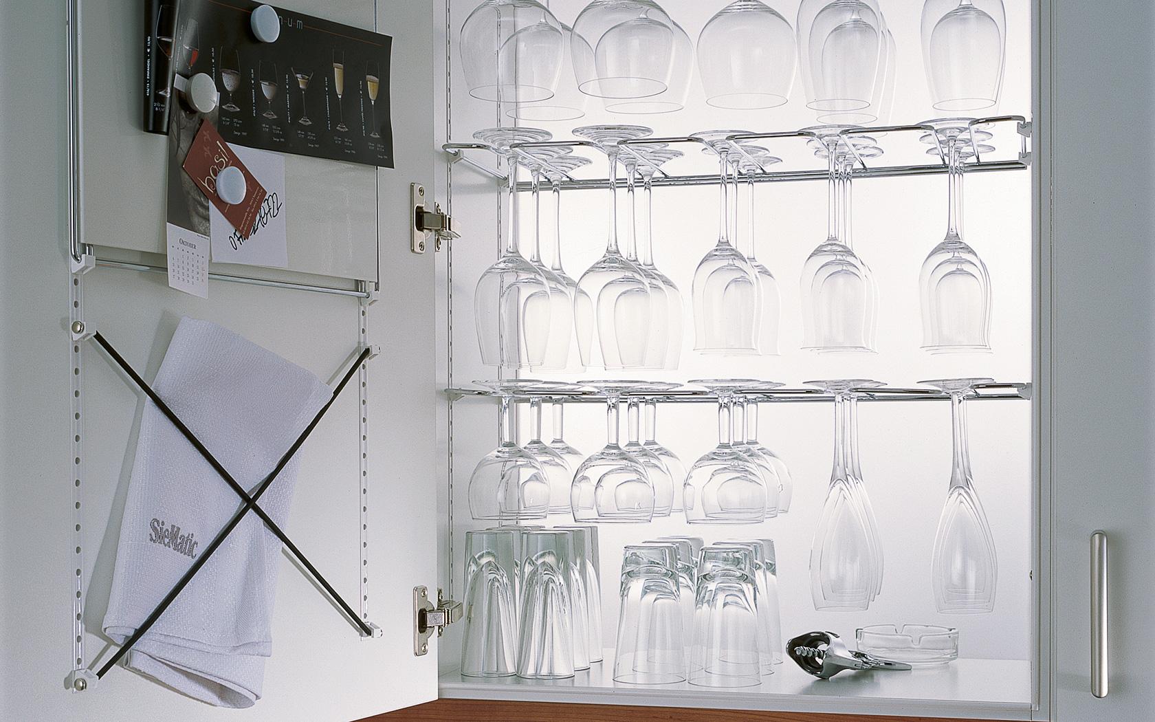 Keukenkast indeling glazen SieMatic MultiMatic