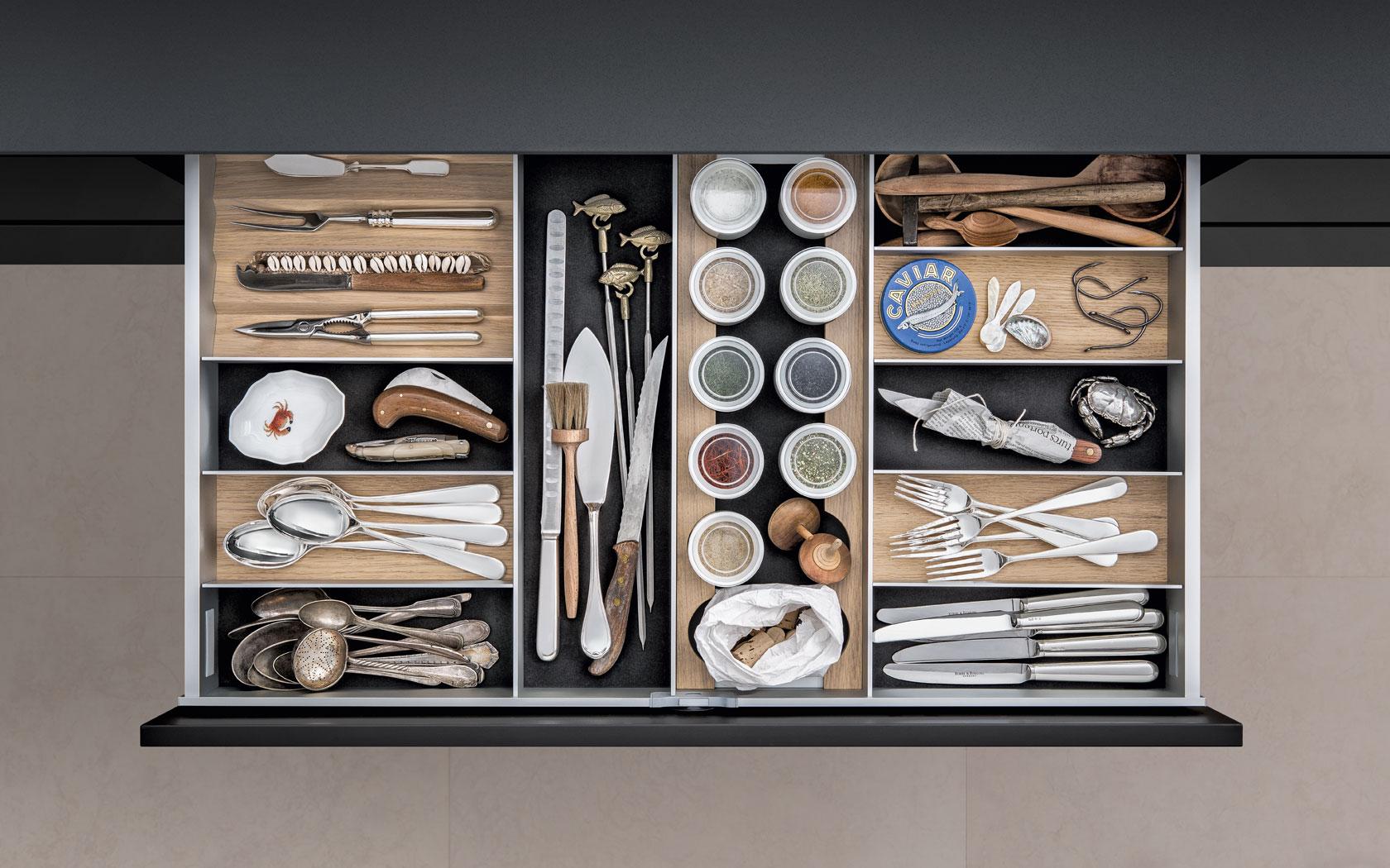 SieMatic keukenlade indeling