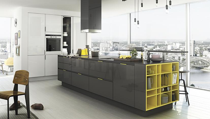 Kookeilanden en kook schiereilanden startpagina voor keuken idee n uw - Idee deco keuken grijs ...