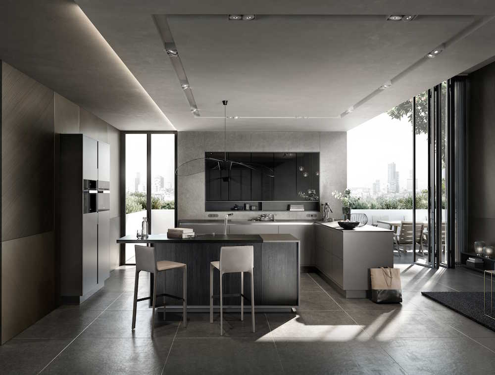SieMatic keuken design in sterling grijs. SieMatic Collection PURE Lifestyle #siematic #pure #keuken #keukendesign