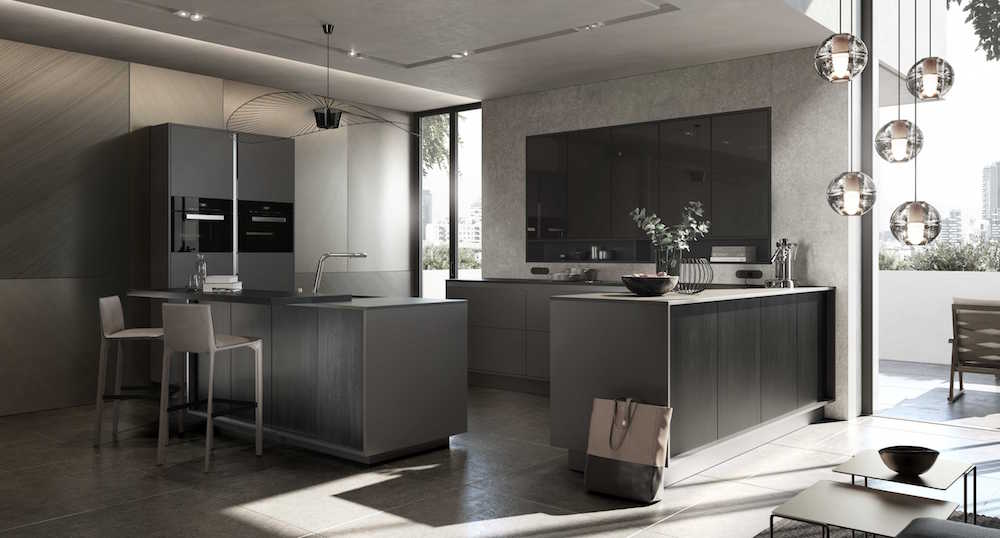 SieMatic designkeuken in de lifestyle PURE. Kleur sterling grey #siematic #pure #keuken #designkeuken #keukendesign