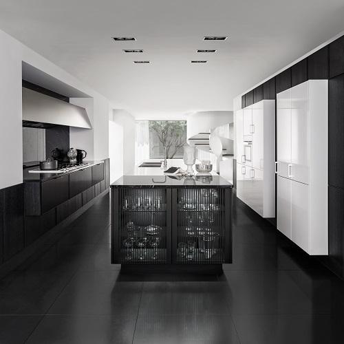 Zwart witte hoogglans keuken SieMatic Pure
