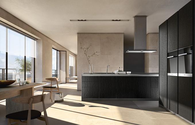 Strakke Zwarte Keuken : Siematic pure keukens met heldere lijnen en strakke vormen