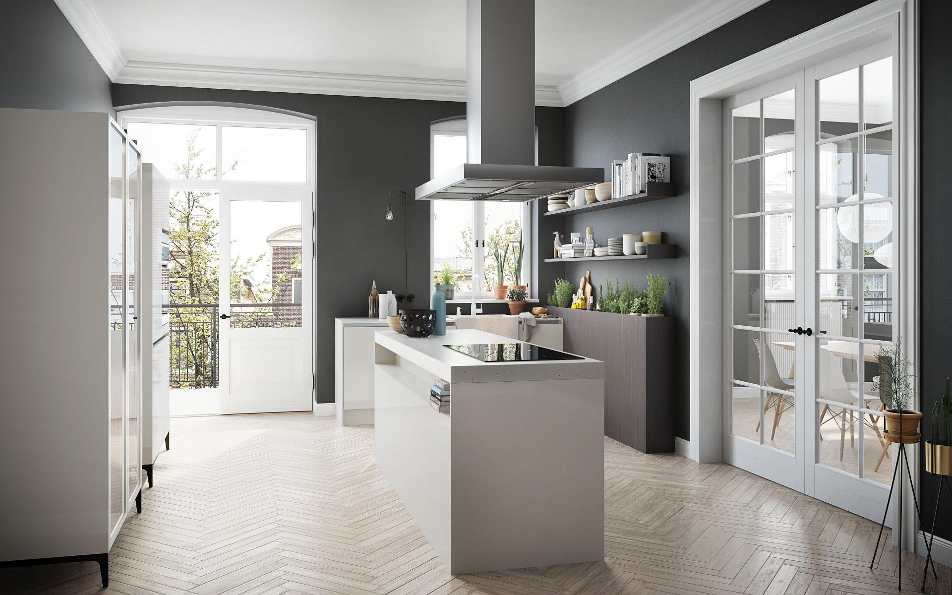 Witte keuken met kookeiland Siematic Urban in historisch pand #keuken #keukeninspiratie #wittekeuken #siematic #kookeiland #droomkeuken
