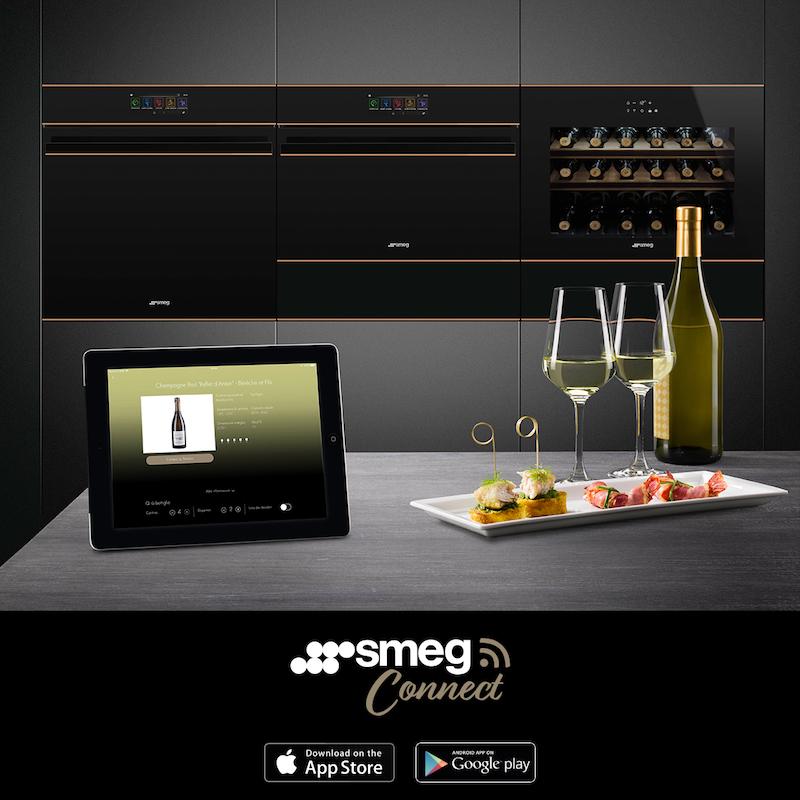 Met de SmegConnect App is het mogelijk om via de smartphone of tablet op elk gewenst moment, waar u ook bent programma's, instellingen en het in-of uitschakelen van de Smeg huishoudelijke apparaten online te regelen. #smegconnect #ovens #smeg #wijnklimaatkast