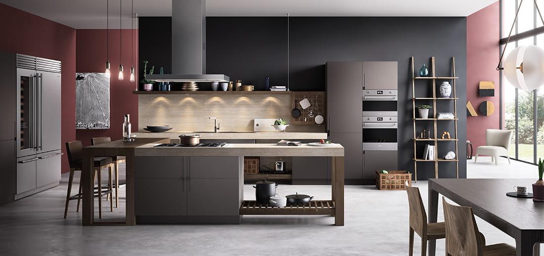 Smeg keuken met keukenapparatuur Classici #smeg #ovens #inbouwapparatuur #keukenstijl #madeinitaly