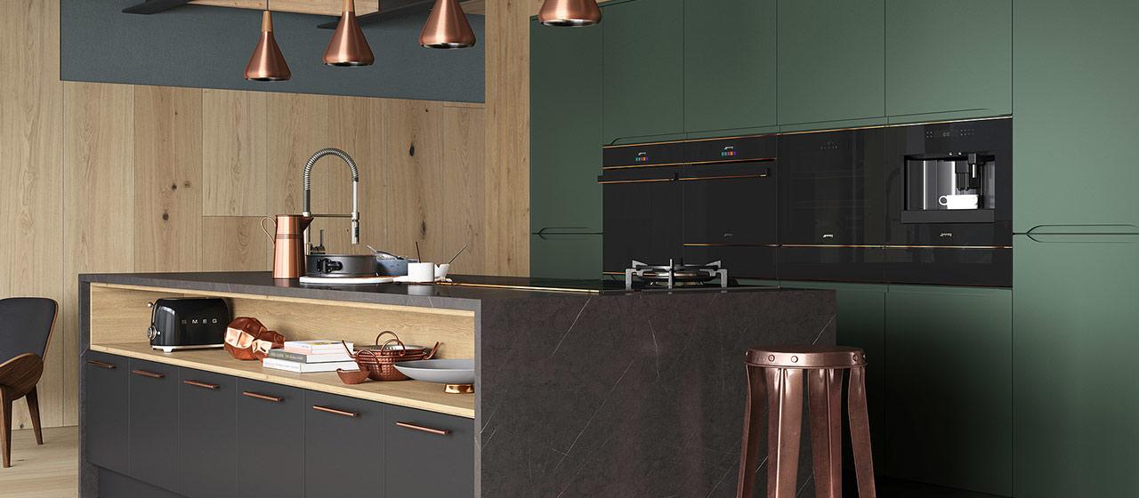 Keuken met Smeg Dolce Stil Novo ovens #keuken #keukeninspiratie #smeg #smeglove #dolcestilnovo