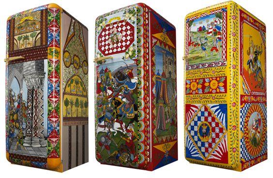 Retro Smeg Koelkast : Artistieke smeg koelkasten beschilderd door dolce gabbana uw