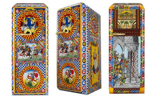 Special Edition koelkast SMEG FAB28 met ontwerp Dolce&Gabbana
