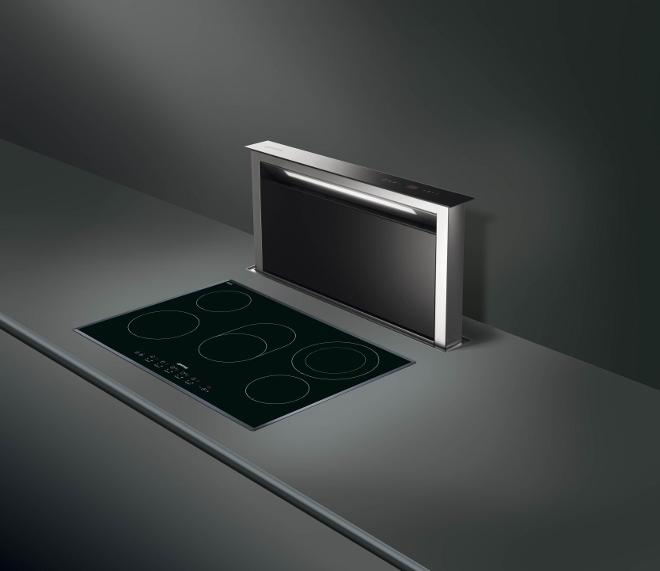 Smeg downdraft afzuiging KDD90VX met handige functies en een moderne en luxe uitstraling
