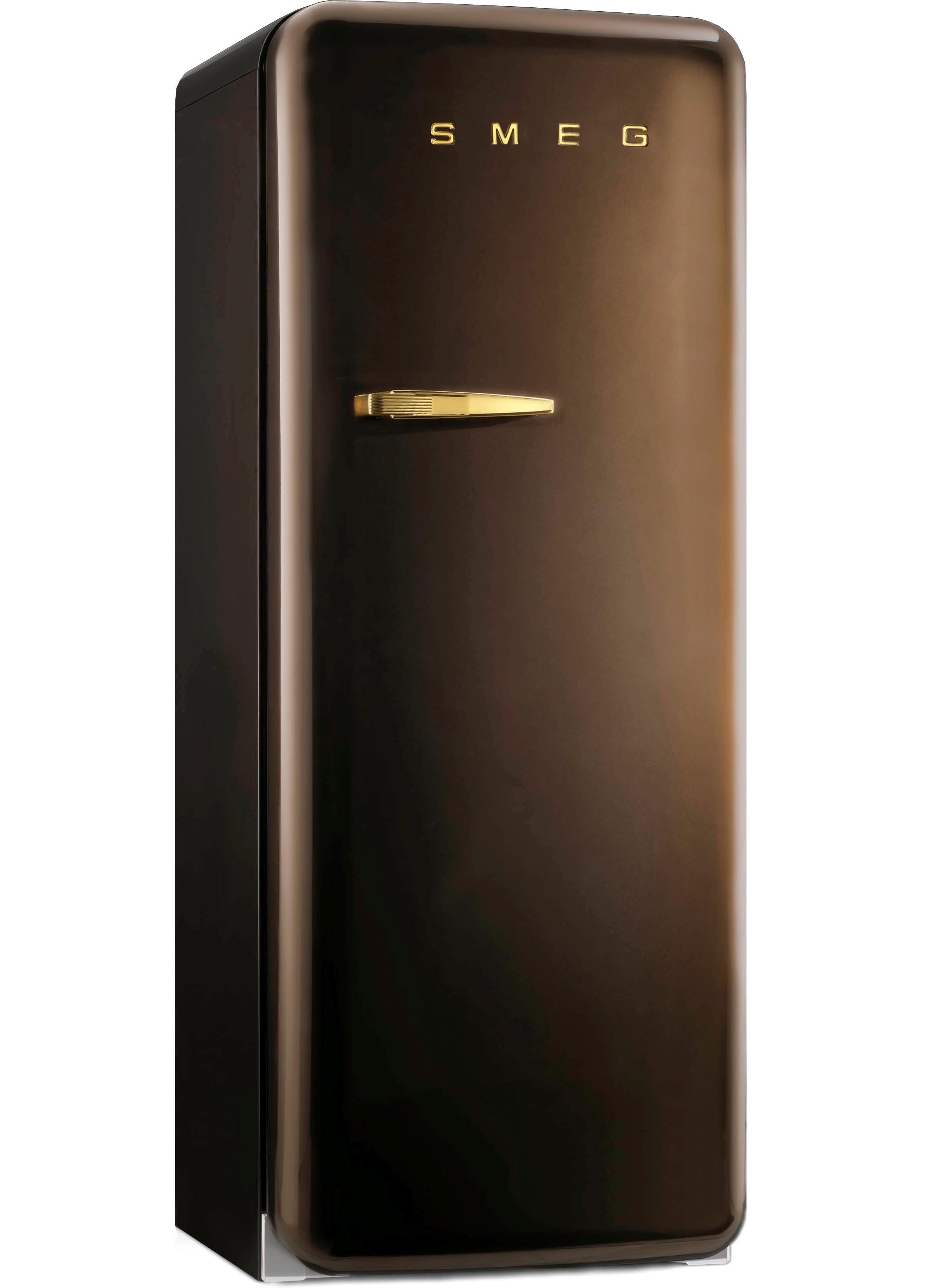 Smeg koelkast FAB28 chocolade bruin in jaren 50 stijl #koelkast #smeg