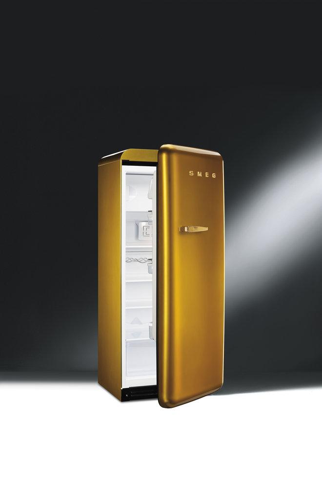 Smeg koelkast FAB28 Swarovski Gold