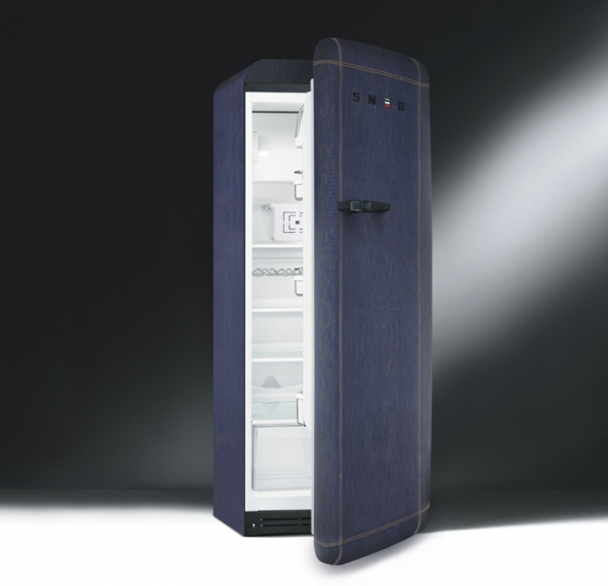 Smeg koelkast limited edition FAB28 denim in jaren 50 stijl #smeg #smeglove #keuken
