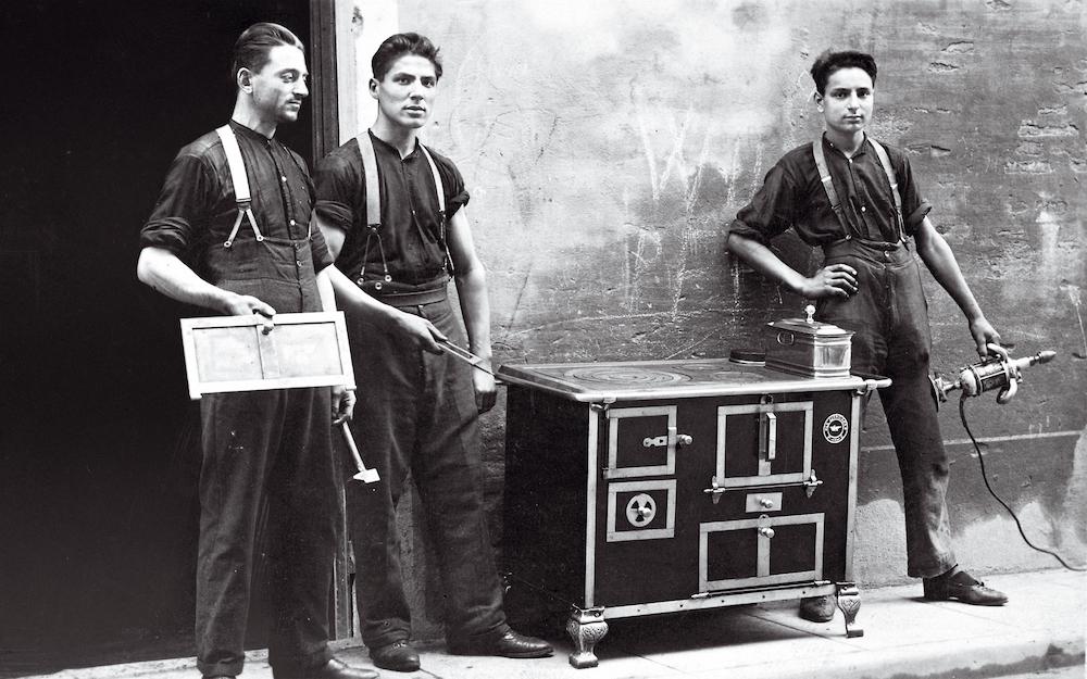 Steel fornuis sinds 1922 geproduceerd in Italie
