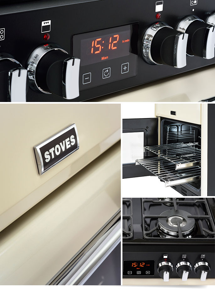 Stoves Richmond fornuis mini. Klein fornuis van 60cm breed voor kleine keukens #fornuis #stoves #keuken