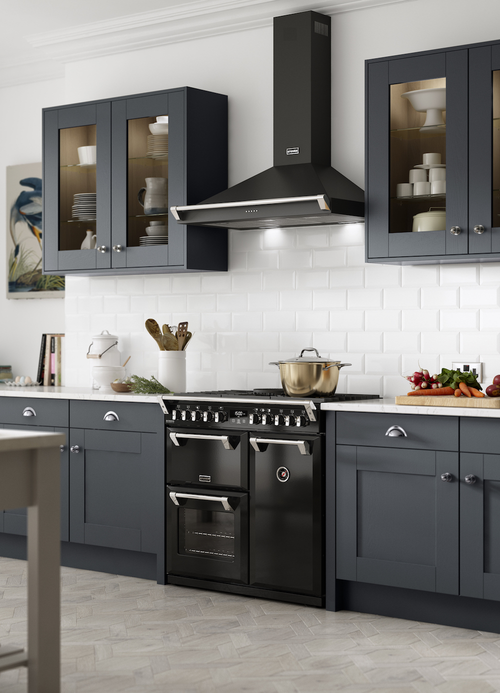 Stoves Richmond fornuis met afzuigkap met landelijke uitstraling #stoves #fornuis #keuken #keukeninspiratie