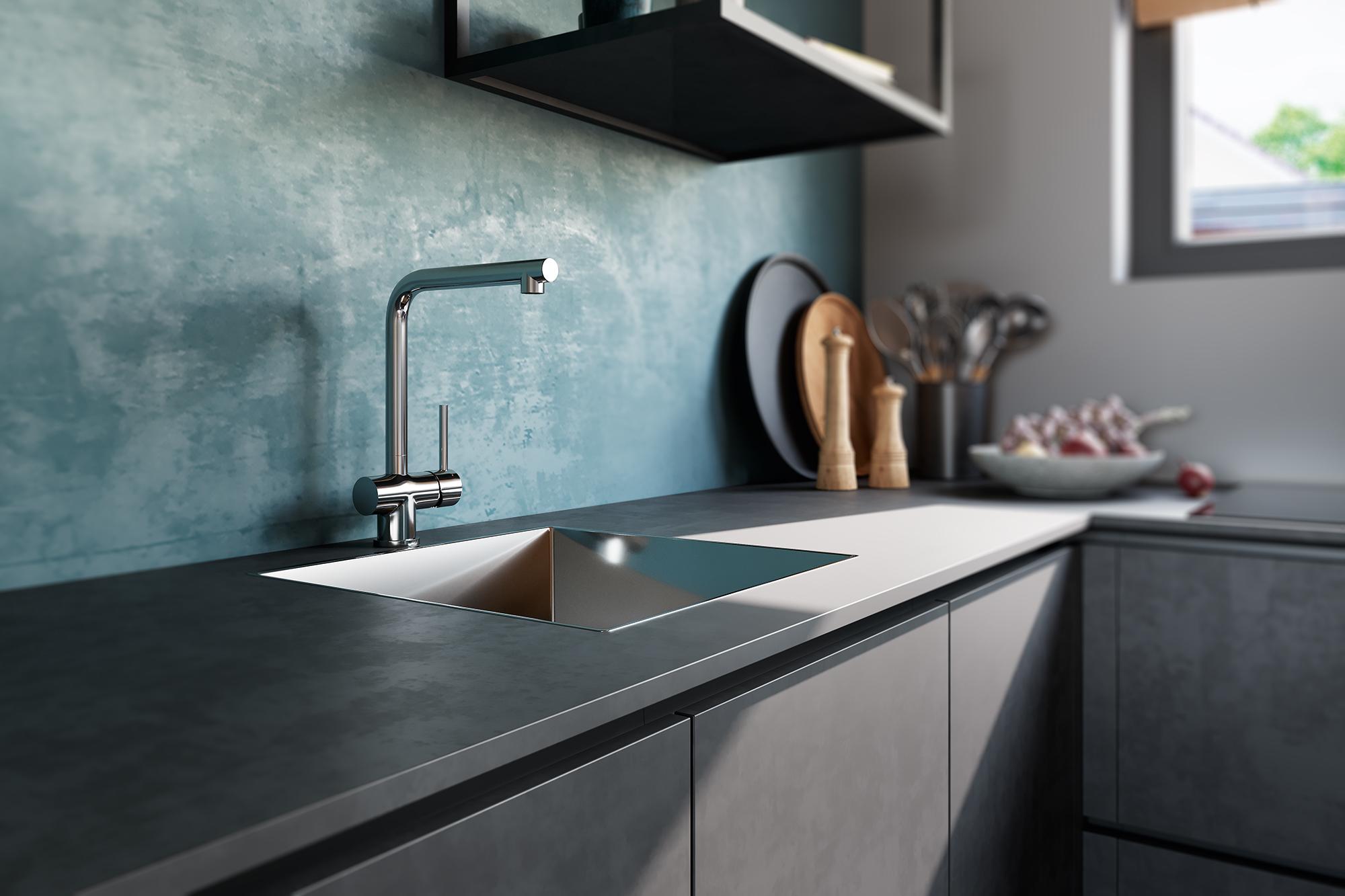 Superkeukens keuken met betonlook. Grijze keuken Rodez Beton Terra Grau #superkeukens #keuken #keukeninspiratie #grijzekeuken #beton #betonlook #keukentrends
