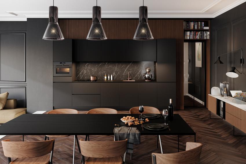 Zwarte keuken Franchetti van Superkeukens #keuken #modernekeuken #zwartekeuken #keukentrends #keukeninspiratie #keukenidee