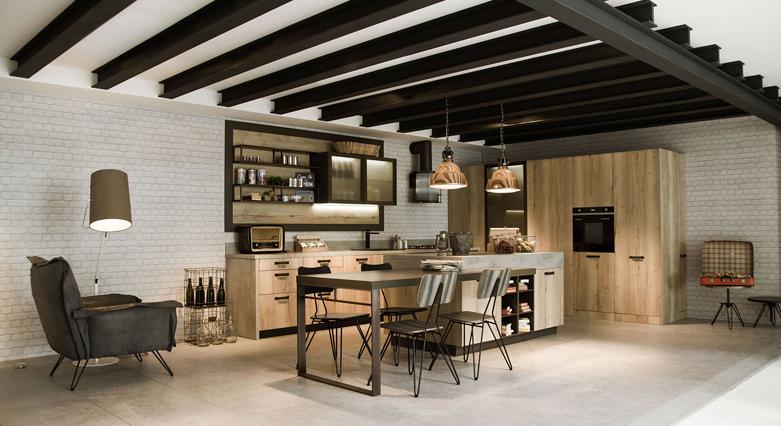 Loft keuken vanSnaidero via Tieleman Keukens