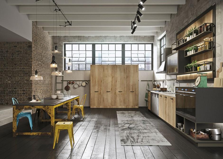Loft keuken van Snaidero via Tieleman Keukens