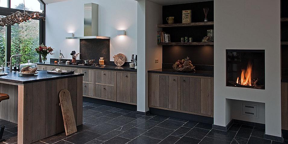 Keukeninspiratie een keukenvloer van natuursteen Nieuws