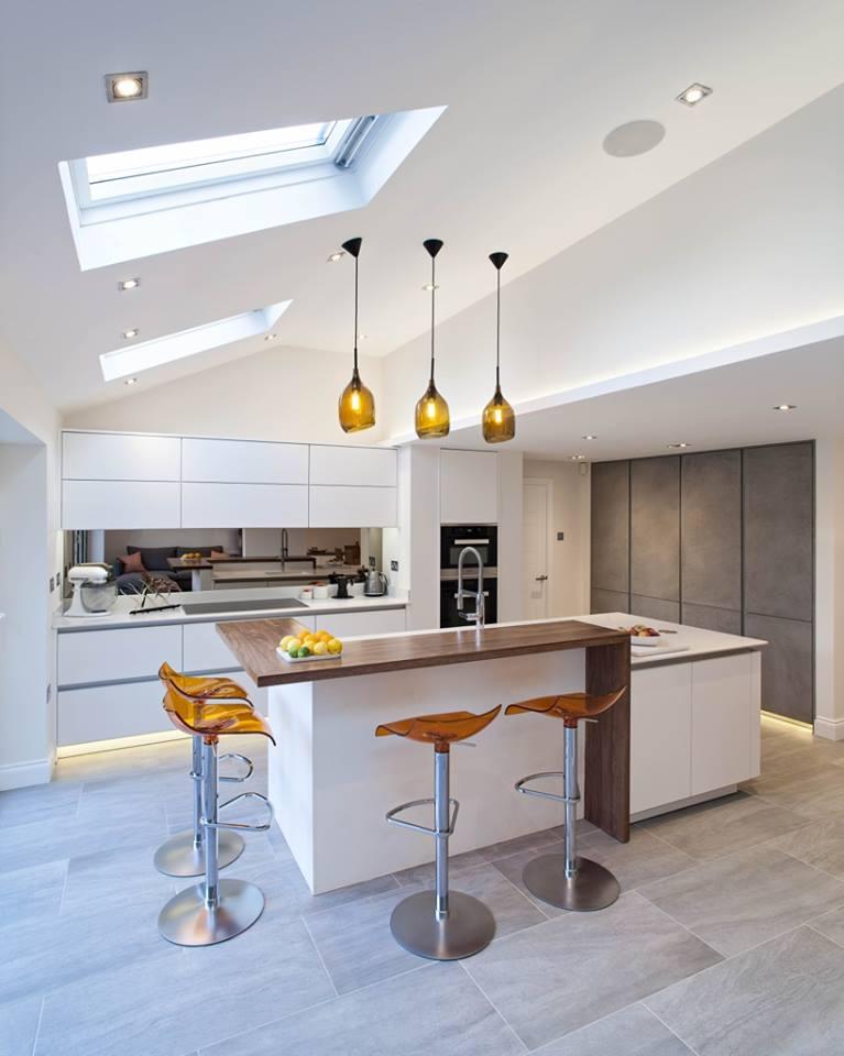 Wooninspiratie keuken in aanbouw wonen - Moderne designkeuken ...