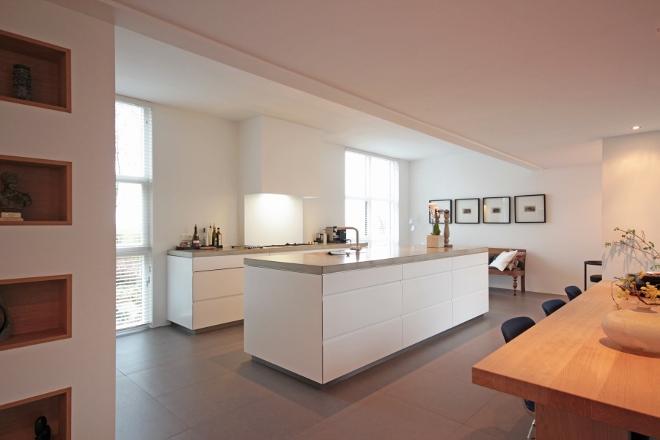 Witte Keuken Beton Blad : Keukeneiland met betonnen werkblad van ...